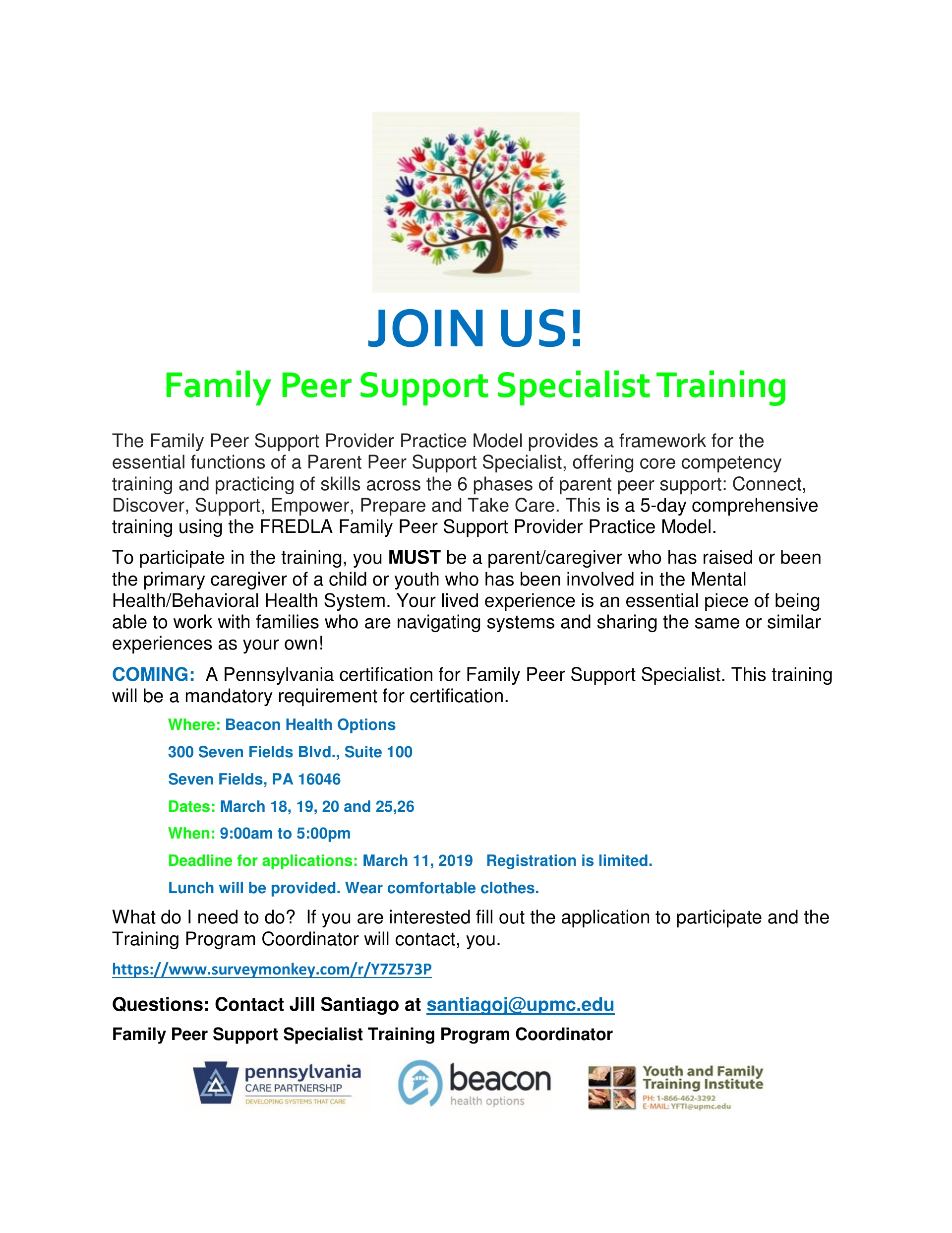 FREE FAMILY PEER SUPPORT SPECIALIST TRAINING