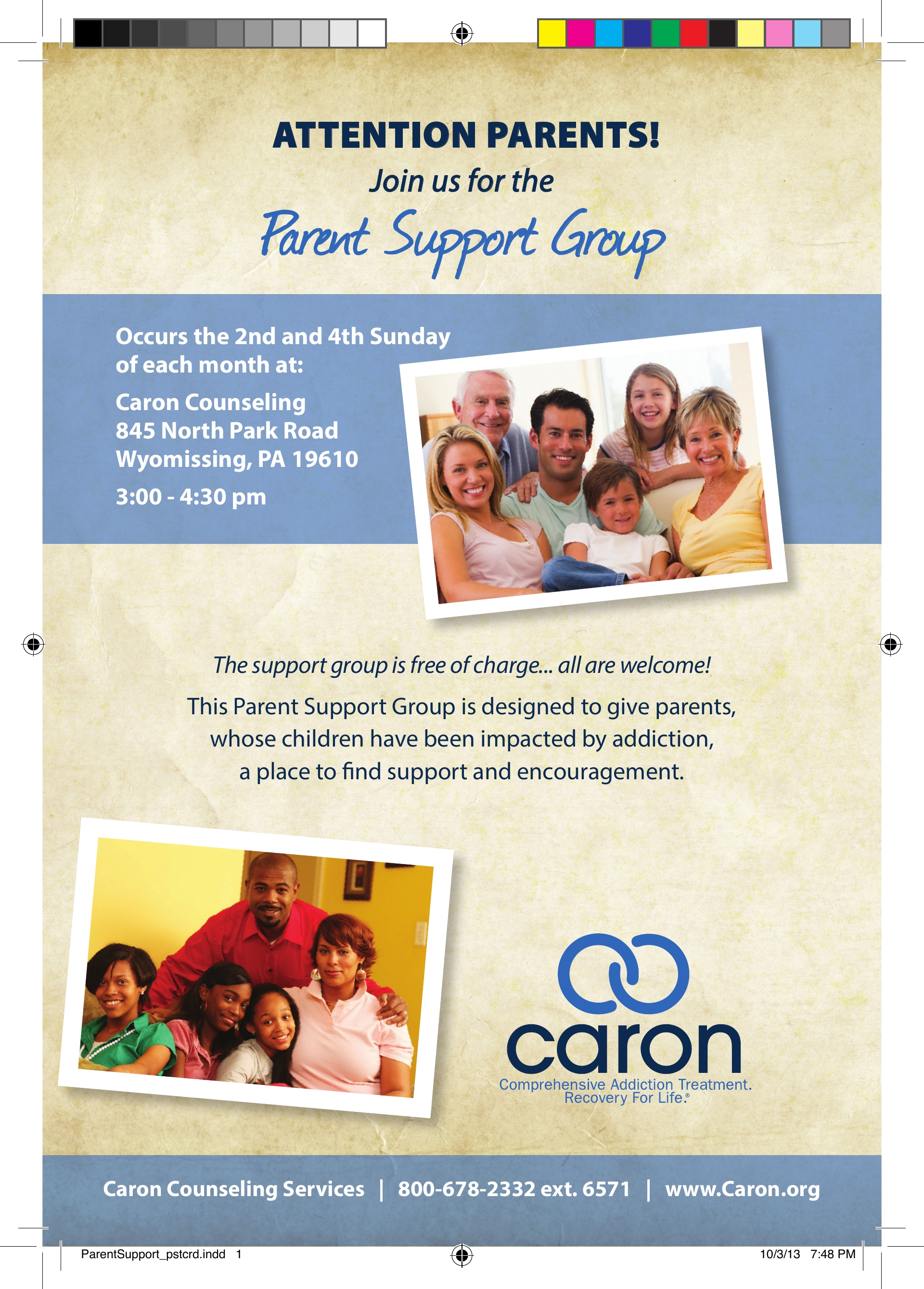PARENT SUPPORT GROUP for those who have children impacted by addiction