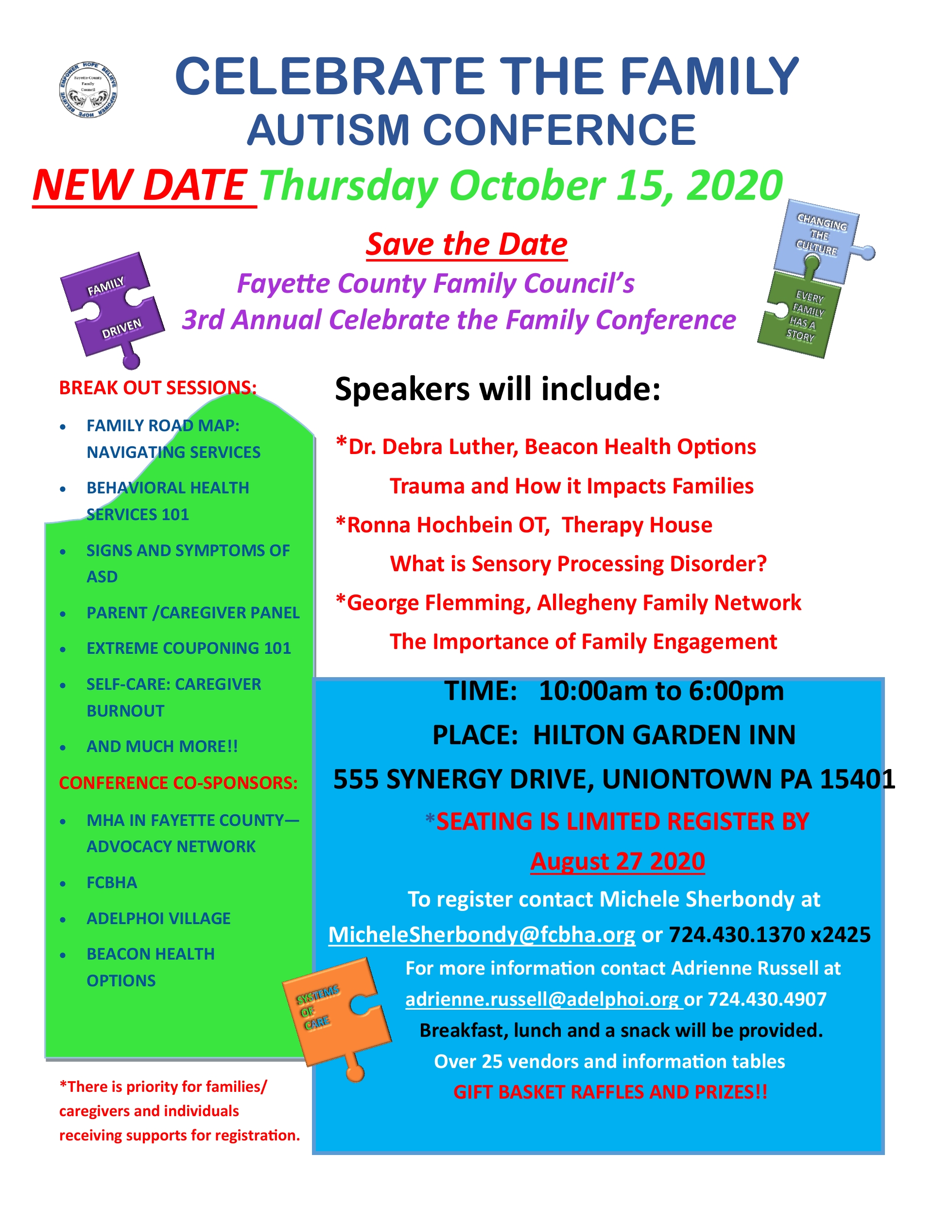 Fayette County Family Council's 3rd Annual Celebrate the Family Conference October 2020