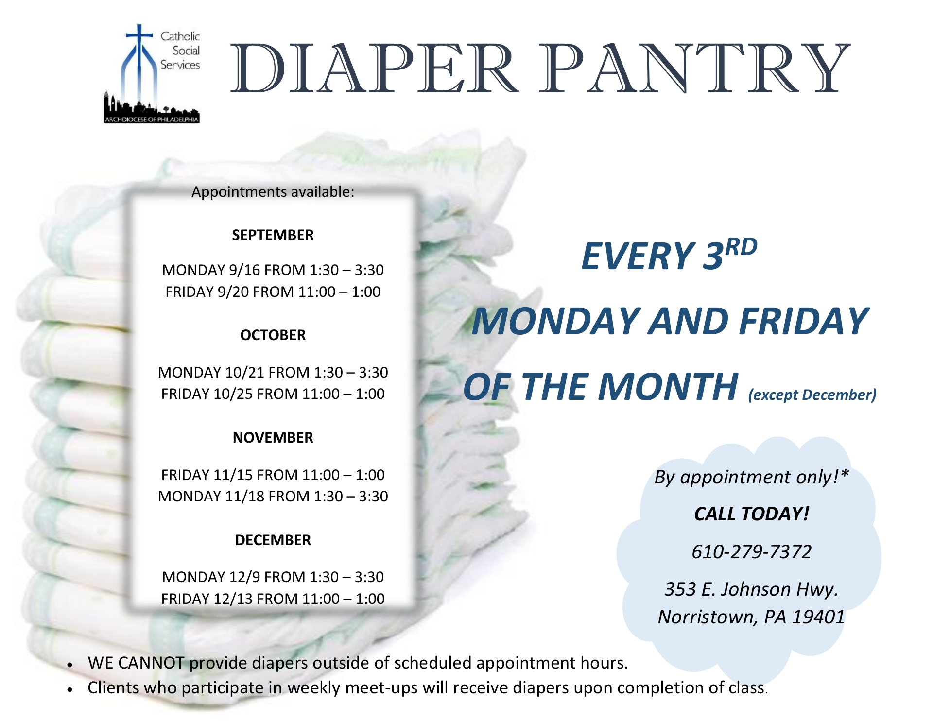 DIAPER PANTRY  NORRISTOWN MONTGOMERY COUNTY