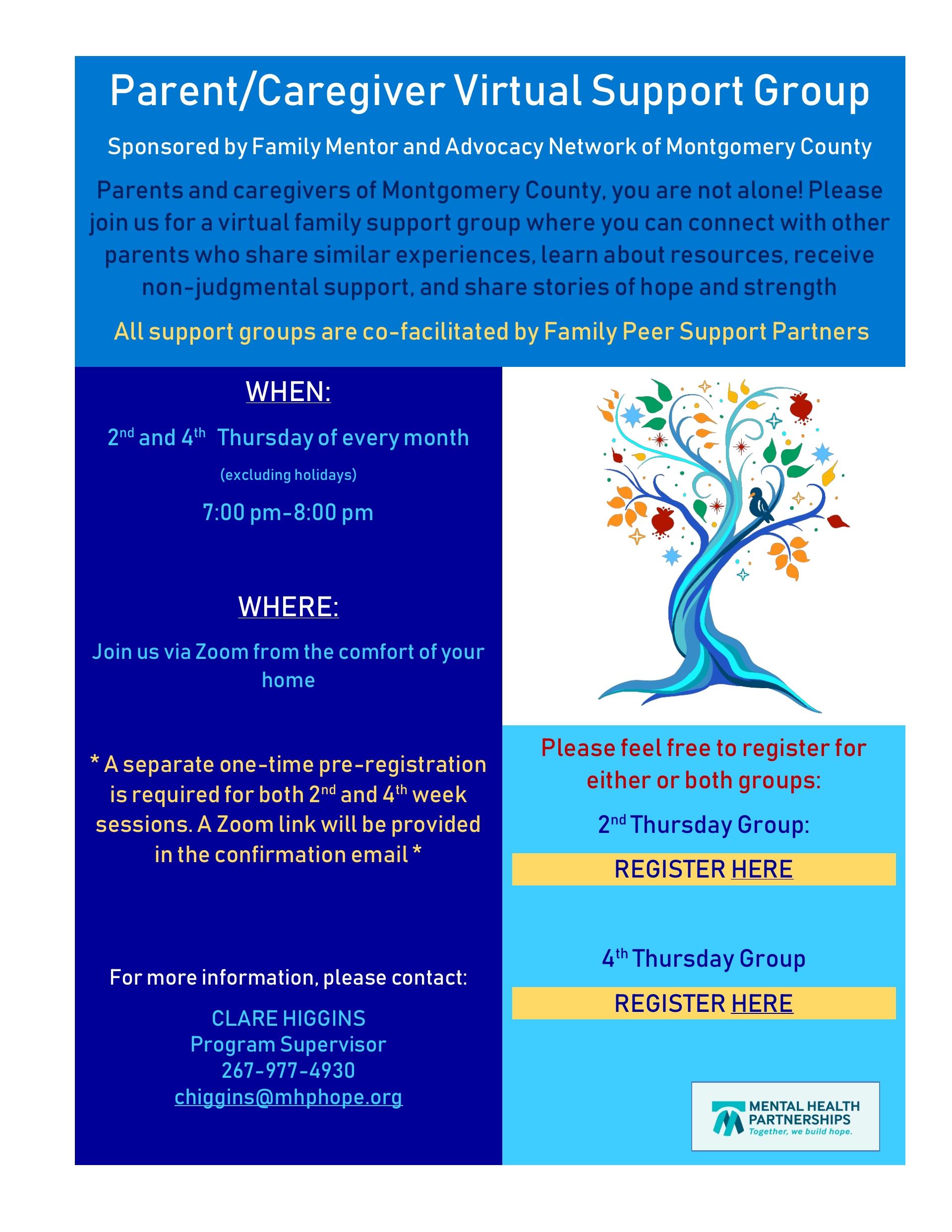 Parent/Caregiver Virtual Support Group