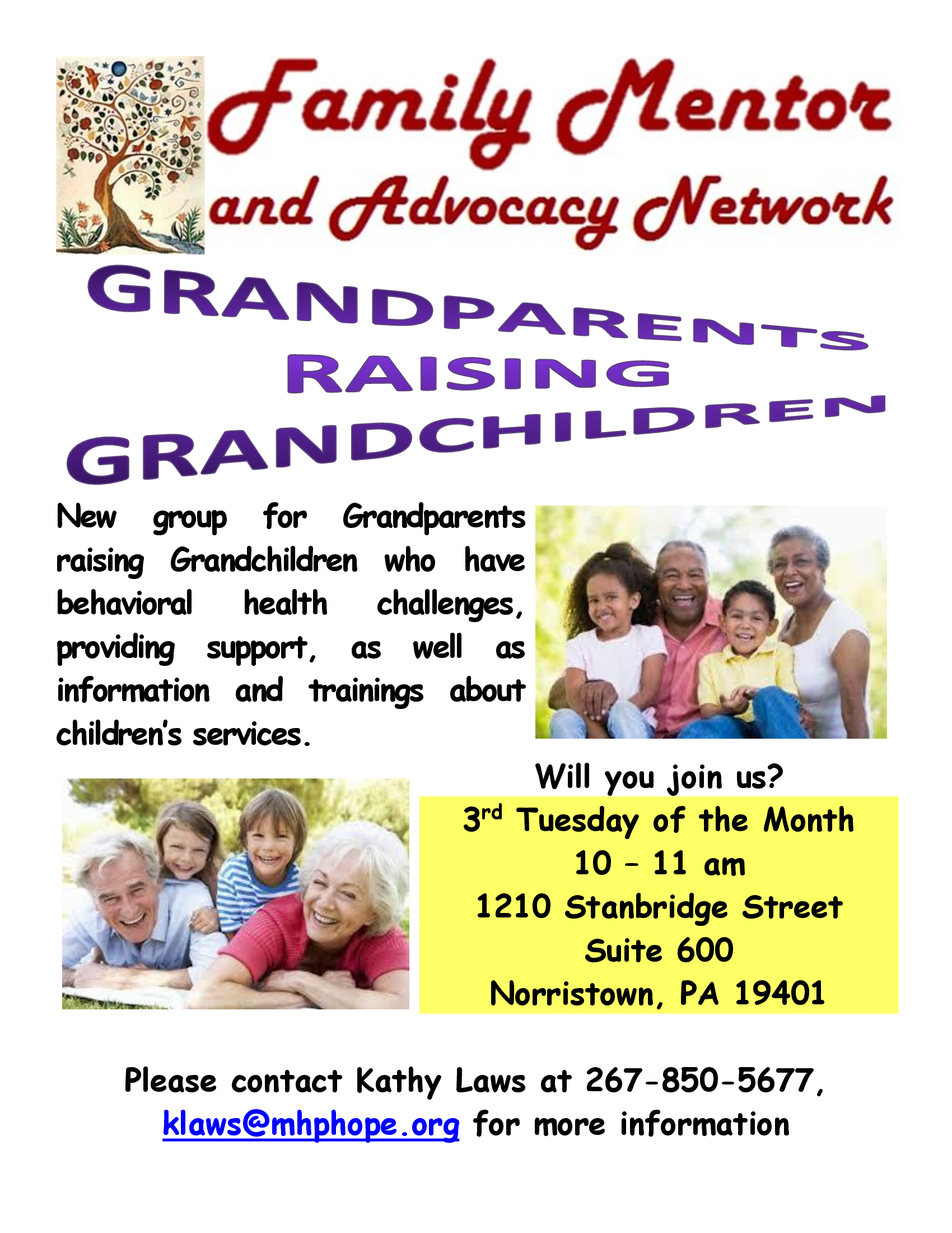 GRANDPARENTS RAISING GRANDCHILDREN Montgomery County Support Group