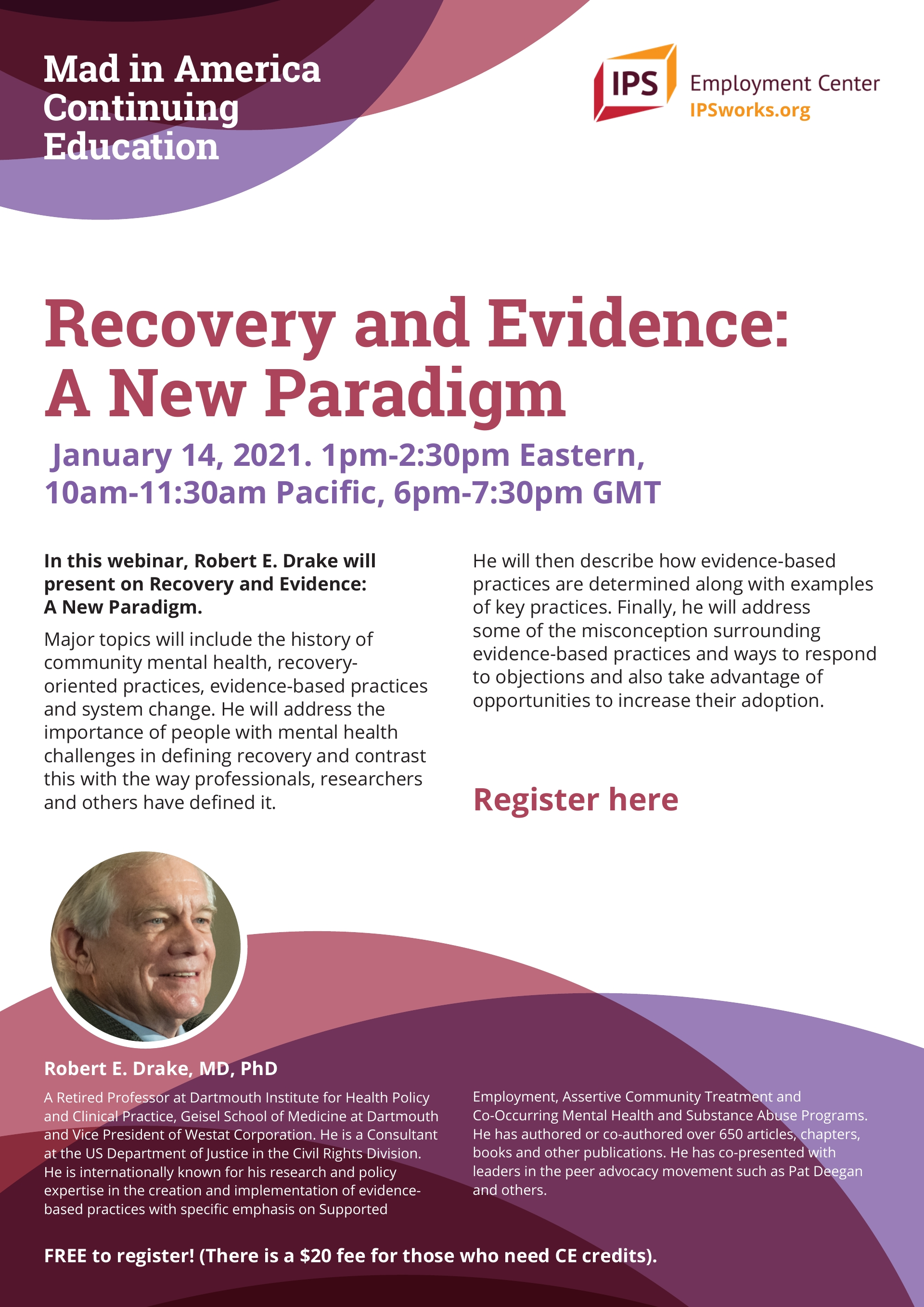 Recovery and Evidence: A New Paradigm January 14, 2021. 1pm-2:30pm