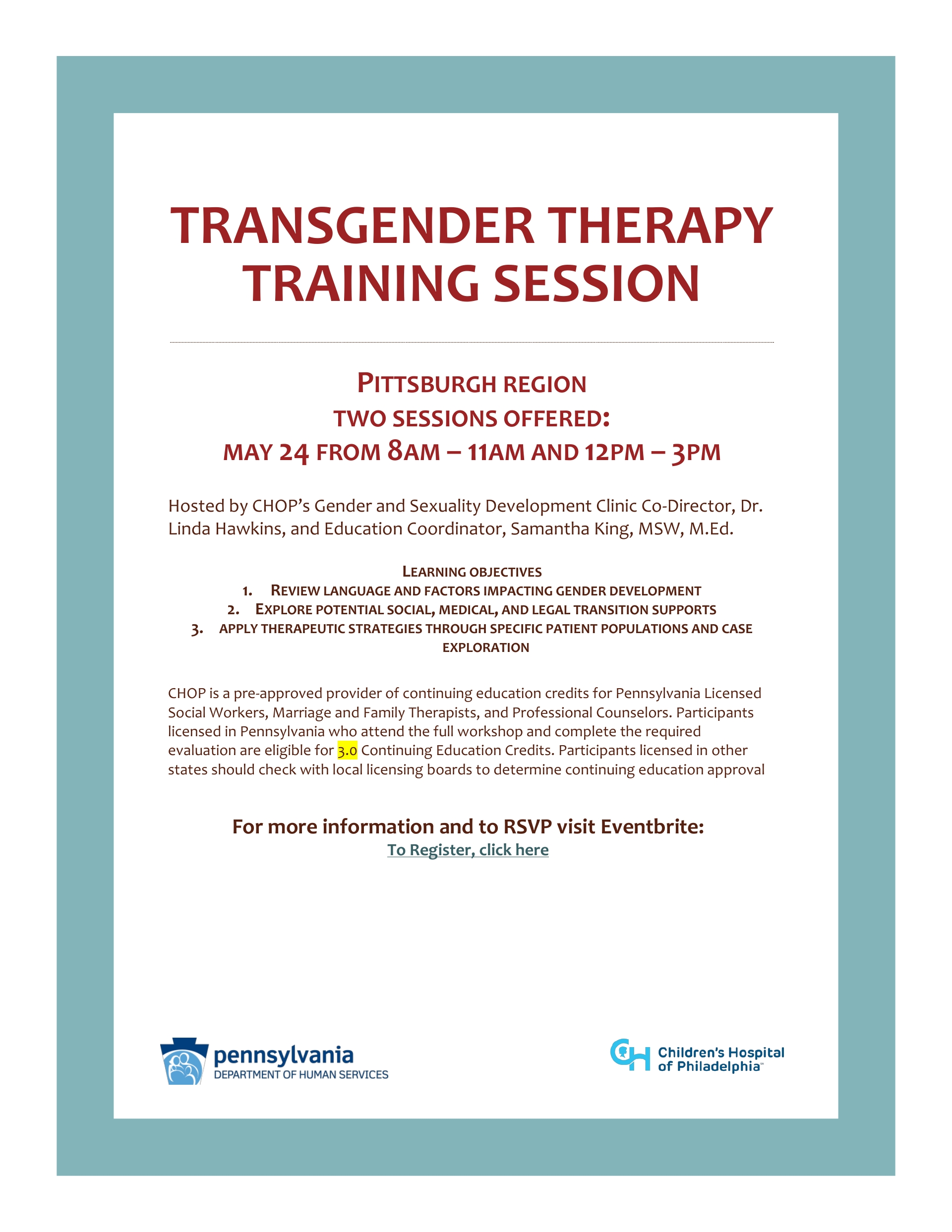 TRANSGENDER THERAPY TRAINING SESSION