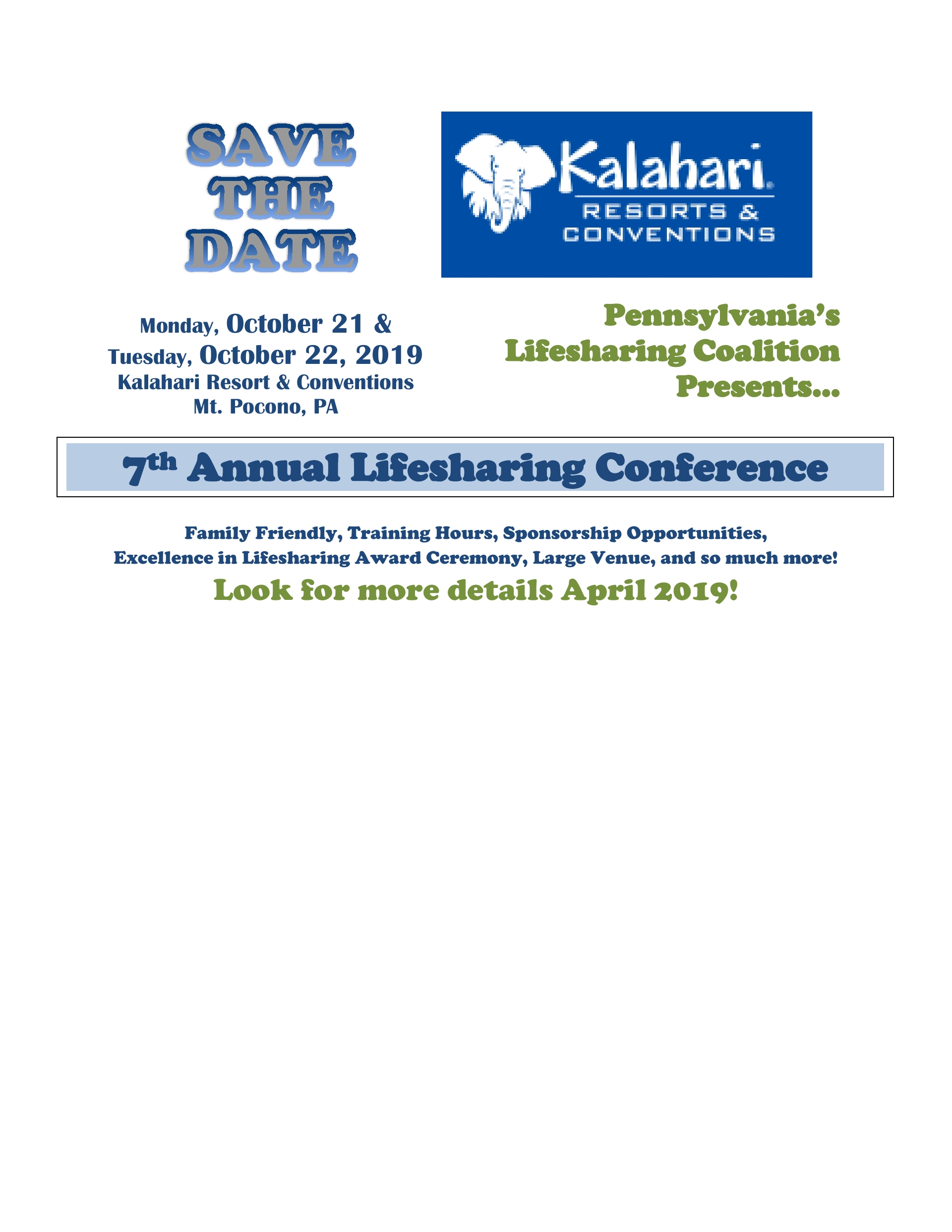 7th ANNUAL LIFESHARING CONFERENCE