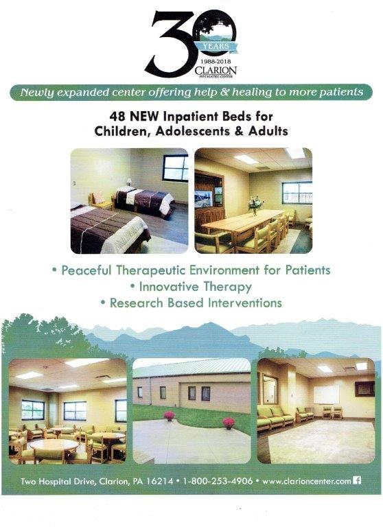 CLARION PSYCHIATRIC HOSPITAL EXPANSION