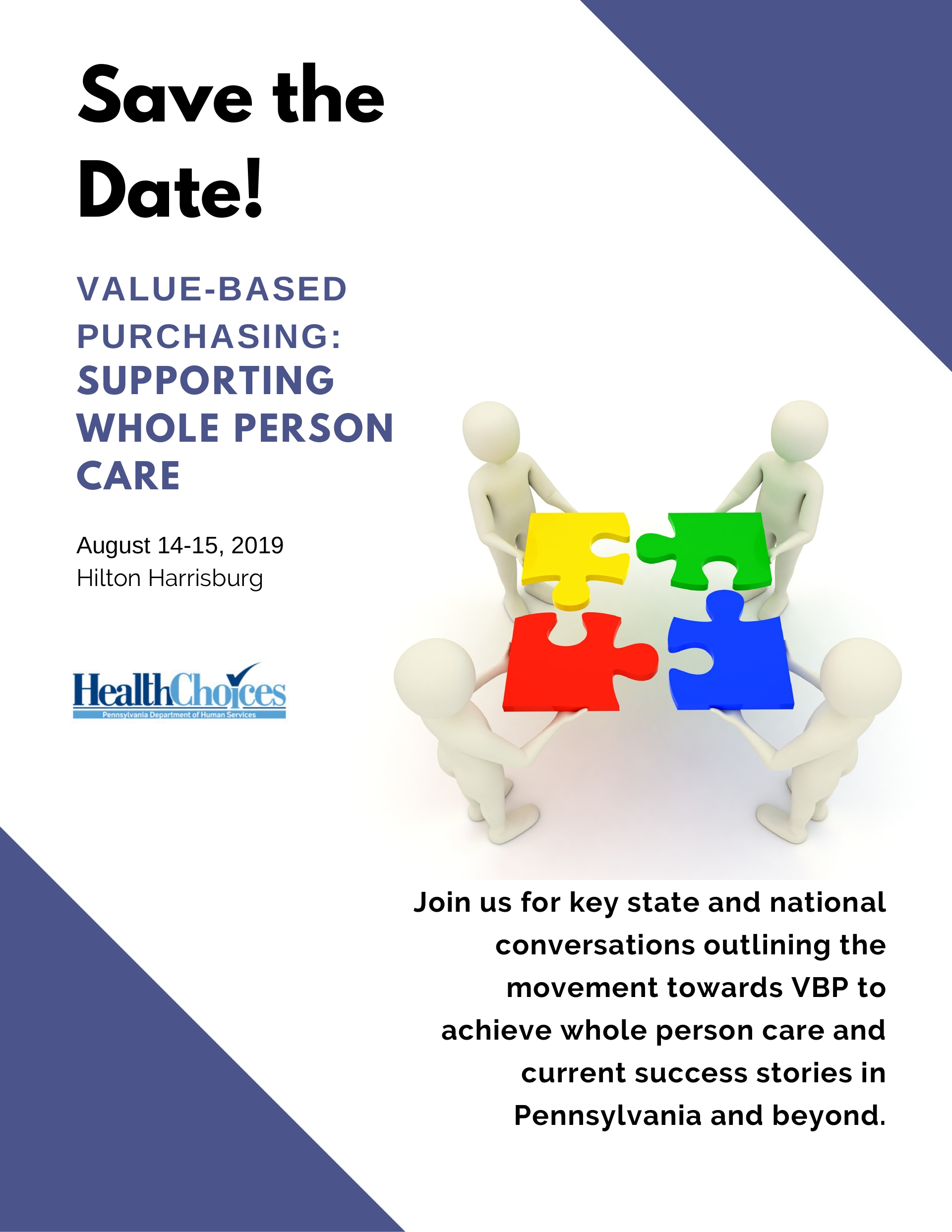 CONFERENCE   Value Based Purchasing Conference  August 2019