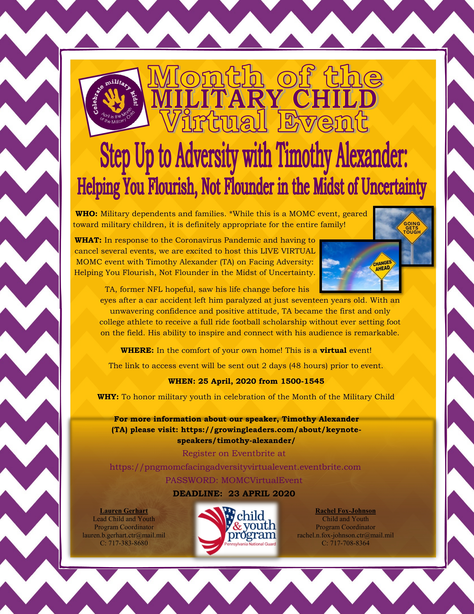 HAPPY MONTH OF THE MILTARY CHILD (MOMC)!!   April 2020