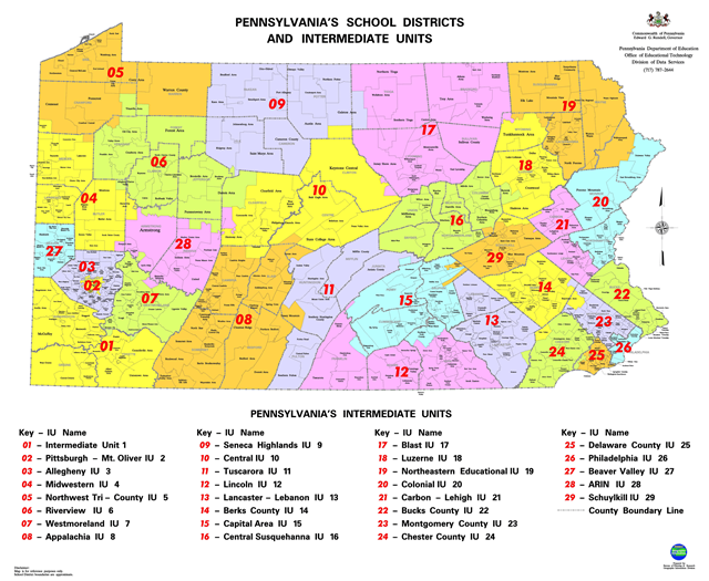 Pennsylvania School Districts and Intermediate Units